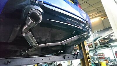 "BMW 335D 330D 335i 4.5"" 115mm Custom Tailpipe Trim Tips Sports Exhaust Dual Exit"