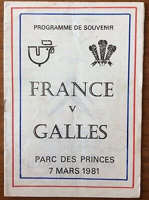 France V Wales 1981 Pirate Issue
