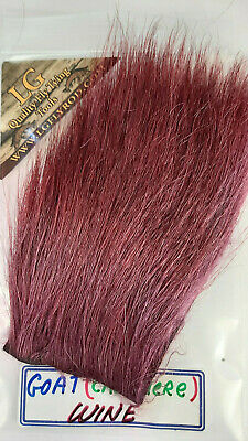 "/""  Cranberry   Hairs /& Furs  FLY TYING FLIES Wings /& Tails CASHMERE LG /"" GOAT"