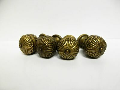 4 antike Möbelbeschläge-Knaufe-Messing / 4 antique brass furniture knobs-handles