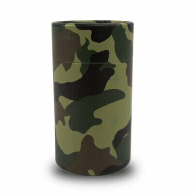 Camouflage Paper Biodegradable Cremation Urn - Extra Small  Green