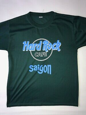 Vintage Hard Rock Cafe Vietnam T-Shirt Hipster Retro Size Large Green