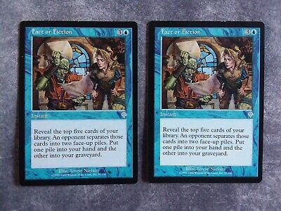 4 Fact or Fiction ~ Blue Invasion Mtg Magic Uncommon 4x x4