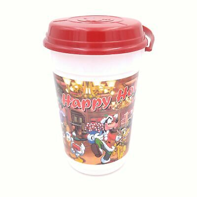 Disney Parks Happy Holidays Popcorn Bucket Pail with Lid - Whirley