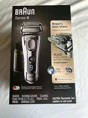 Braun 9295CC Series 9 Wet-Dry Mens Electric Shaver New In The Box