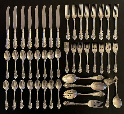 Wallace Sir Christopher Sterling 8 Place Settings + 6 Serving 46 Pieces Great