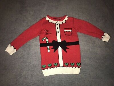 christmas jumper Age 3-4 Mrs Clause