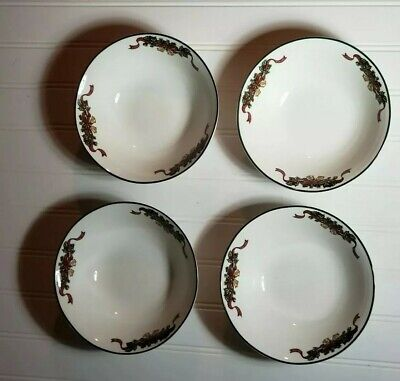 NEW-Set of (4) Four Johnson Brothers Victorian Christmas Soup Bowls
