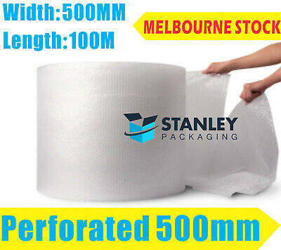 Perforated Bubble Cushioning Wrap 500mm x 100M Bubble Wrap perforated every 50cm