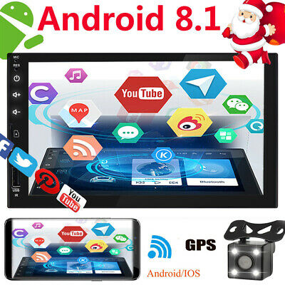 7 Inch Android 8.1 2DIN Car Stereo Quad Core Touch Radio WIFI GPS Nav Video MP5