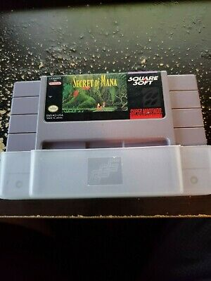 Secret of Mana for Super Nintendo SNES Game Cartridge Only Authentic Tested Save