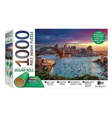 1000 Piece Jigsaw Puzzle with Puzzle Roll by Hinkler