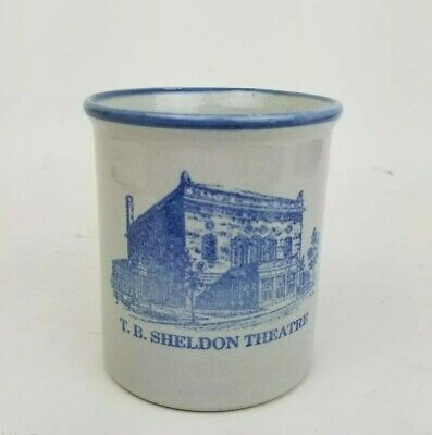 Red Wing Stoneware Mini Crock Historic T.B. Sheldon Theatre Pottery Minnesota