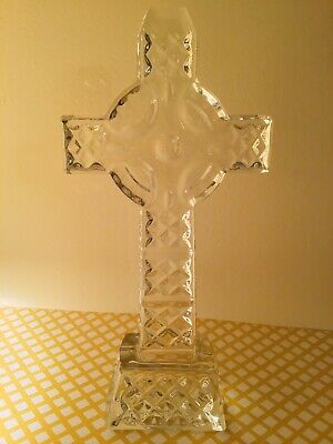 """Waterford Crystal 8"""" Standing Celtic Cross"""
