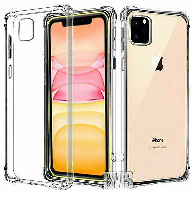 For Apple iPhone 11 Pro Max Clear Case Shockproof Heavy Duty Gel Soft TPU Cover