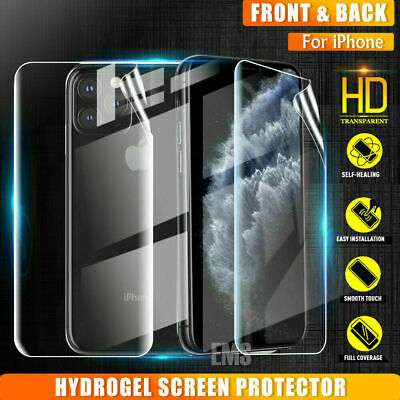 Apple iPhone 11 Pro Max Hydrogel Clear Full Coverage Screen Protector Film Gurd