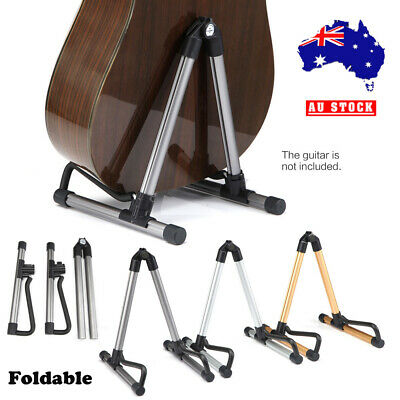 Folding Guitar Stand Floor Rack Electric Acoustic Bass Gig Instrument Holder NEW