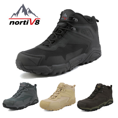 NORTIV 8 Men's Ankle Waterproof Hiking Boots Lightweight Backpacking Work Shoes