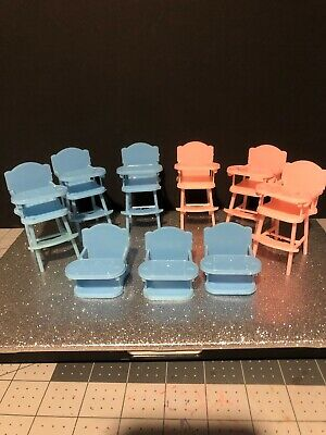 Lol Surprise Doll House Furniture High Chairs Lil Sis Baby Chair Highchairs