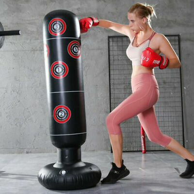 1.6M Free Standing Inflatable Boxing Punch Bag Kick MMA Training For Adults NEW