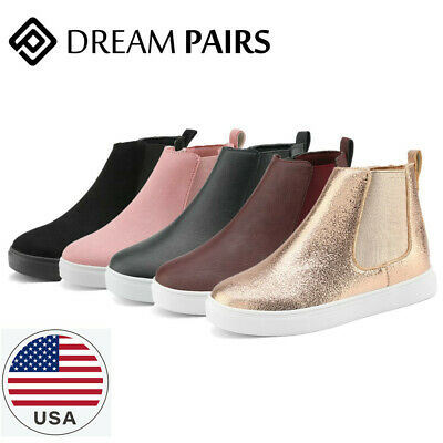 DREAM PAIRS Boys Girls Kids Sneakers Ankle Boots  High Top Sneakers Shoes