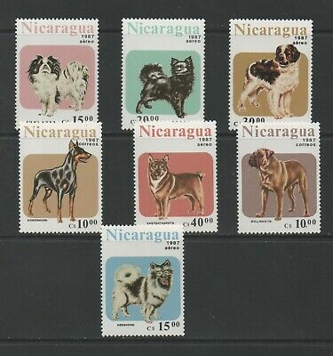 Thematic Stamps Animal - NICARAGUA 1987 DOGS 2878/84  7v mint
