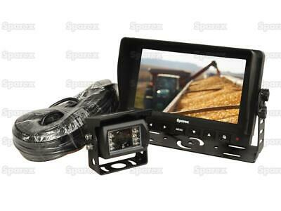 "7"" Lcd Reversing Camera Kit For Machinery Tractors Lorrys Caravans Sparex 115175"