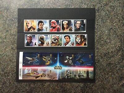 Gb 2019 Star Wars Apollo Space Films Set M/Sheet And Stamps