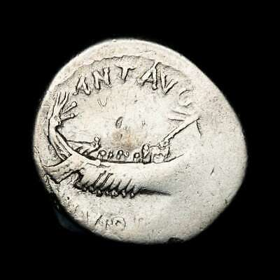 *Lucernae* MARK ANTONY Denarius LEG XXII Eagle, two standards Patrae 32-31 B.C
