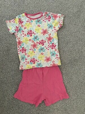Girl's Pink Floral PJ Short Set - 2-3 Years - George