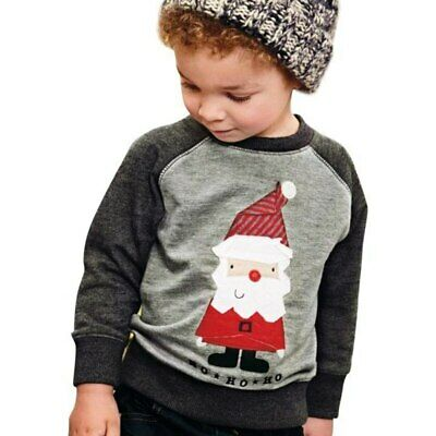 2019 Santa Claus Autumn Baby Boy Girl Clothes Embroidered Kids Sweaters