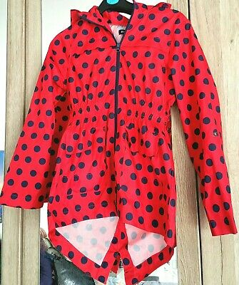 Brave soul girls winter rain coat red and black excellent condition 9-10 girls