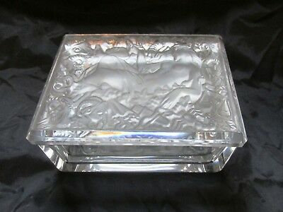 Czech/Bohemian ART DECO style Crystal Jewelry/Trinket Box R. HLOUSEK Horoscope