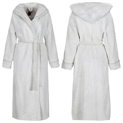 Ex Marks And Spencer Pink Autograph Luxury Supersoft Dressing Gown Robe M&S