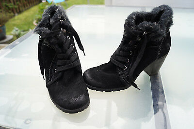 Smart Tamaris Women's Winter Shoes Ankle Boots Gr.37 Padded Black Top