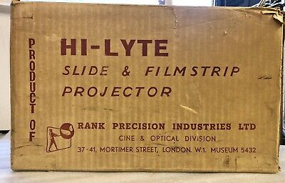 Rank Hi-Lyte slide projector, Boxed, TESTED