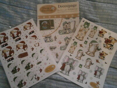 Daisy and Dandelion Die Cut Decoupage Sheets - Christmas & Fishing Themes