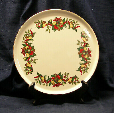 """Christmas Bounty by A.M.C. –Cake/Serving Plate 11 3/4"""""""