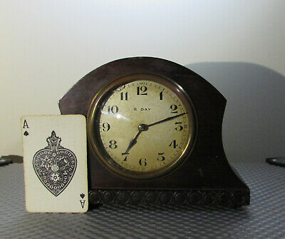 Antique Japy Freres miniature 8 day mantel clock (sold as in need of attention)