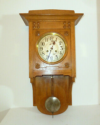 Watch Wall Clock Pendulum Clock um 1900 Gustav Becker