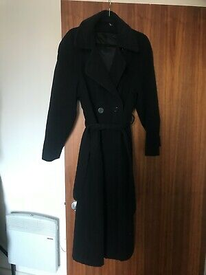 marks and spencer's black trench coat, m&s, size 8, gorgeous, winter