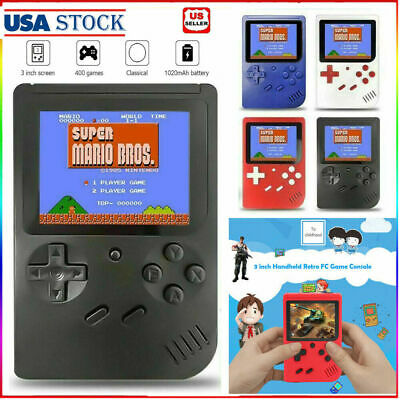 3in Retro Mini Handheld Video Game Console Gameboy Built-in 400 Classic Games US