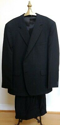 NWT HUNTINGTON 100% Worsted Wool Made In USA Charcoal Gray Suit  48L x 43
