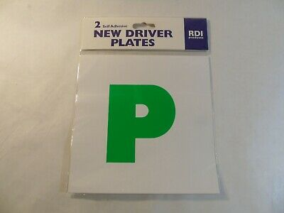 New Driver Plates - P Plates - 2 Self Adhesive Plates