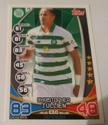 TOPPS Match Attax Trading Card - SPFL 2019/20 C. Jullien Celtic Card No.26