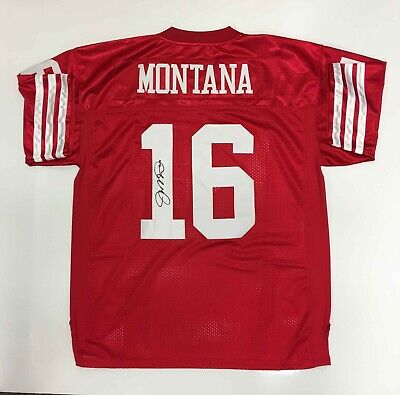 Joe Montana 49ers NFL Football Jersey Signed Autographed with Certificate