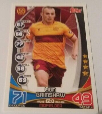 TOPPS Match Attax Trading Card - SPFL 2019/20 L.Grimshaw Motherwell Card No.137