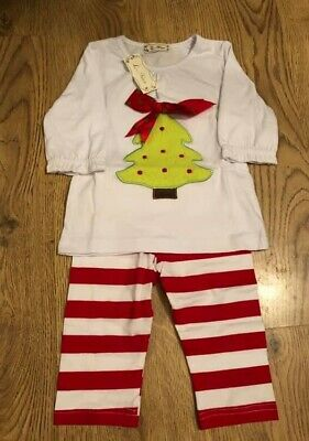 Baby Girls Christmas Outfit Christmas Tree 1-2 Years BNWT