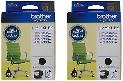 Brother LC229XL hohe Kapazität Ink Cartridge, Twin Pack, schwarz