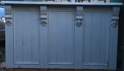 Vintage Antique Shop Counter Bar front Reception timber Wall feature mantle